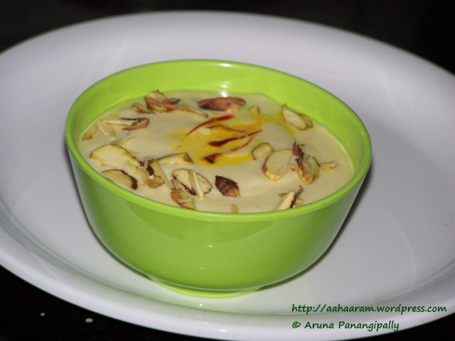 Shrikhand with Kesar and Pista