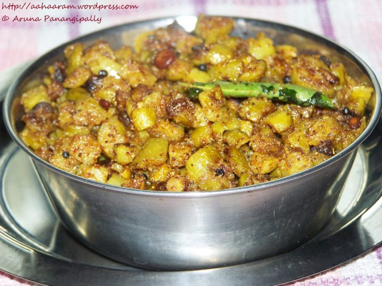 Dondakaya Koora with Koora Podi or Ivy Gourd with Andhra Curry Powder