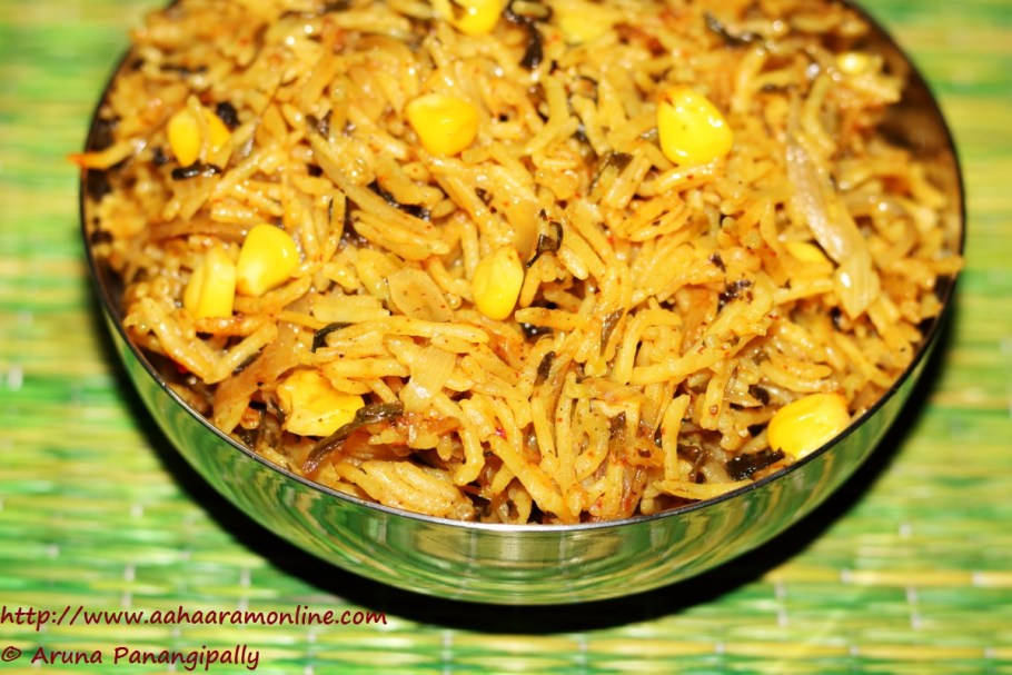 Methi Corn Biryani