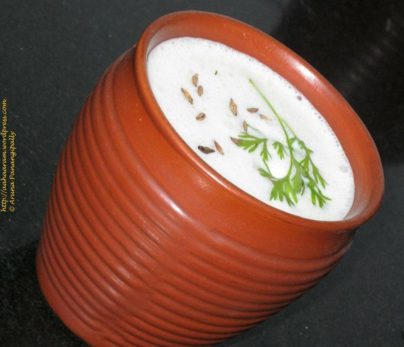 Masala Chaas or Masala Buttermilk or Masala Majjiga