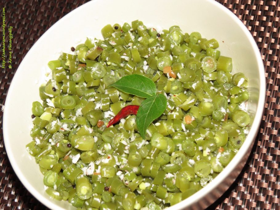 French Beans Poriyal | French Beans Thoran