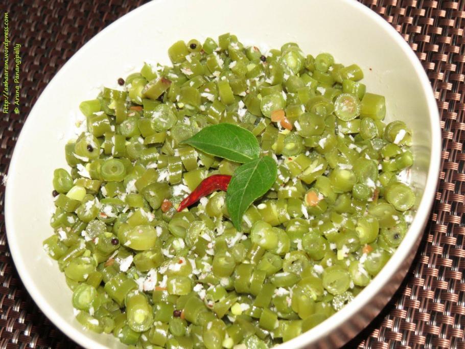 French Beans Poriyal | French Beans Thoran