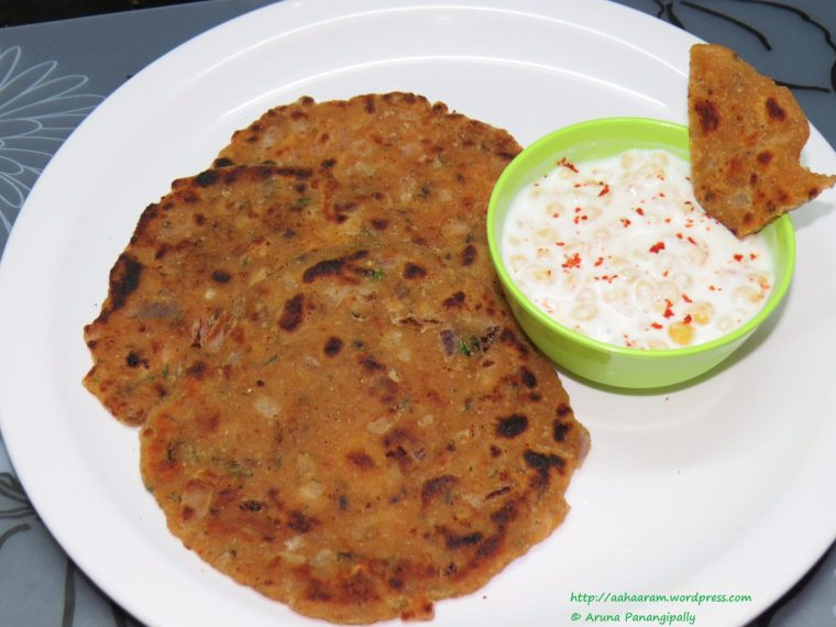 Koki - Unleavened Wheat Bread with Onions, Green Chillies and Cumin is a classic Sindhi breakfast item