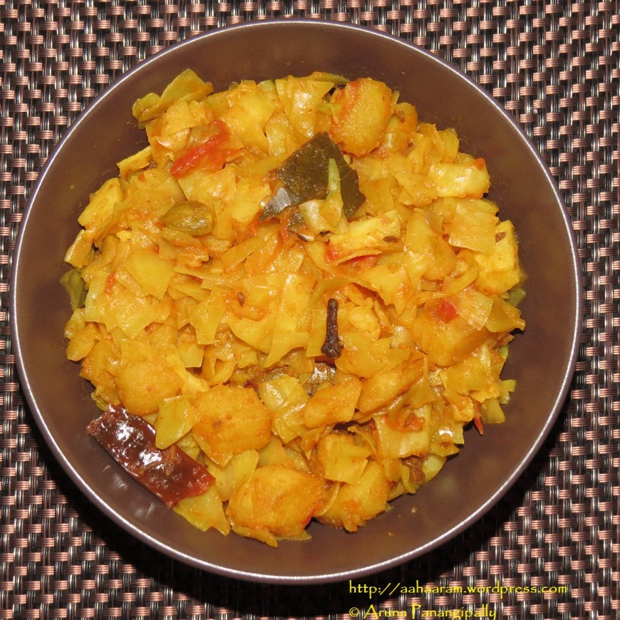 Bandhakopir Torkari | Bengali Cabbage, Peas, and Potato Curry