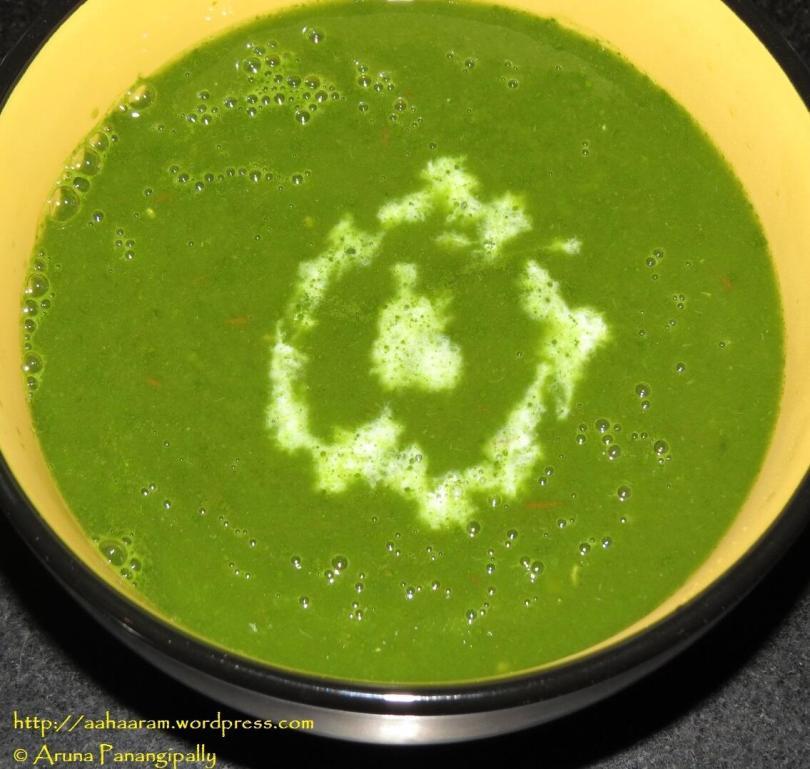 Spinach Soup or Palak Shorba