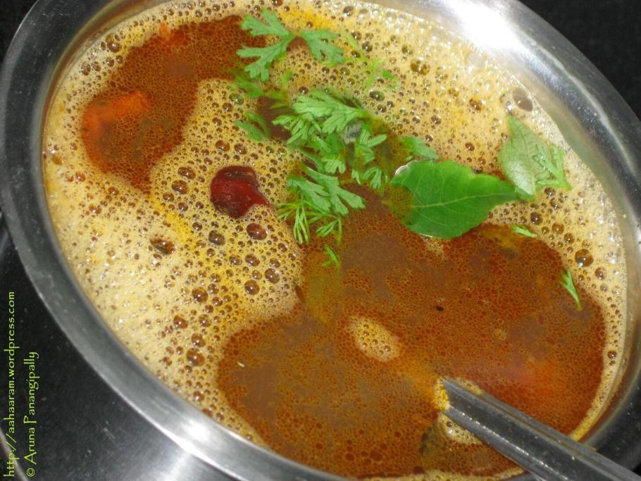Tomato Rasam, Tomato Charu or Thakkali Rasam