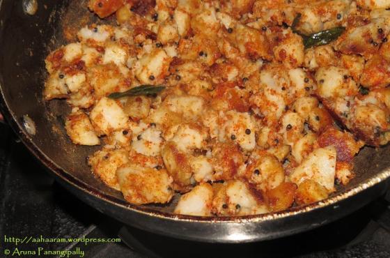 Arbi Fry or Chema Dumpa Vepudu or Taro Root Fry