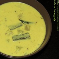 Majjiga Pulusu (Buttermilk Stew or Andhra Kadhi) - With Coconut