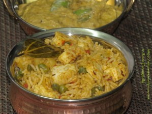 Quick and Easy Paneer Biryani