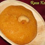 Rava Kesari - Saffron Semolina Pudding