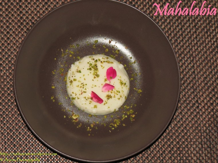 Mahalabia - Arabic Milk Pudding - Ramzan or Ramadan