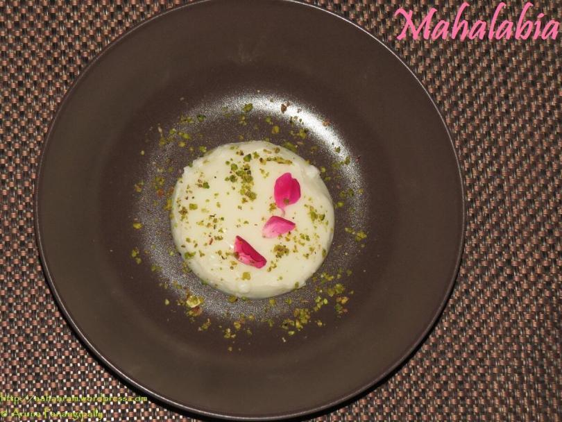 Mahalabia - Arabic Milk Pudding - Ramzan or Ramadan