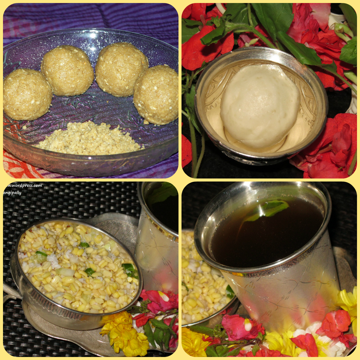 Recipes for Nagula Chavithi Naivedyam