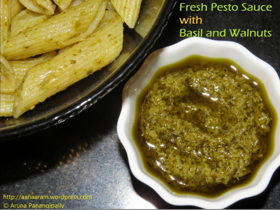 Basil Walnut Pesto for Pasta