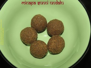 Minapa Sunni Undalu - Udad Dal Laddoo or Laddu