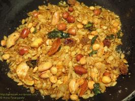 Poha Chivda - Low Oil Version, Low Calorie Version