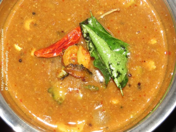 Pavakka Theeyal or Bitter Gourd in a Coconut Tamarind Gravy