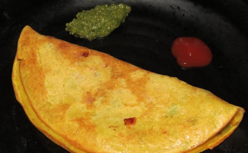 Tomato Omelette | Vegetarian Omlet