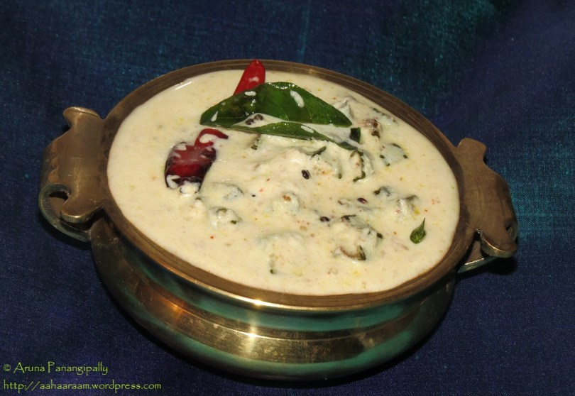 Vendakka Kichadi (Fried Okra in Coconut Flavoured Yogurt from Kerala)