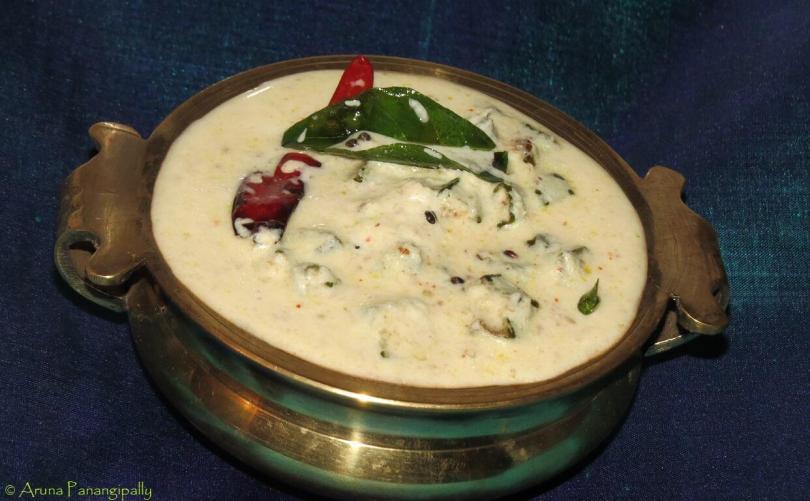 Vendakka Kichadi (Fried Okra in Coconut Flavoured Yogurt from Kerala)