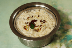Vankaya Perugu Pachadi is a traditional Andhra dish of roasted eggplant in yogurt. It is called Baingan ka Raita in Hindi and Kathirikai Thayir Pachadi in Tamil.