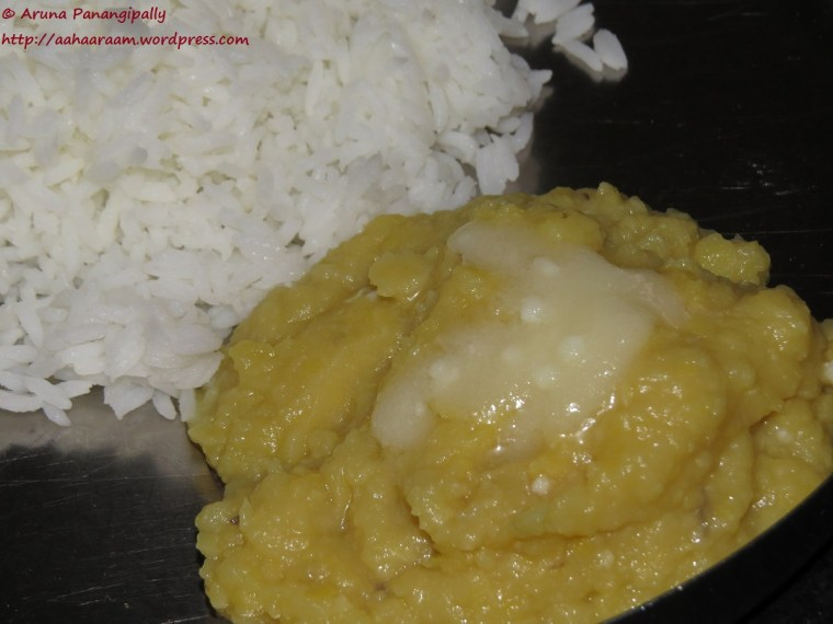 Mudda Pappu | Plain Dal with Rice and Ghee - Andhra Pradesh Meal