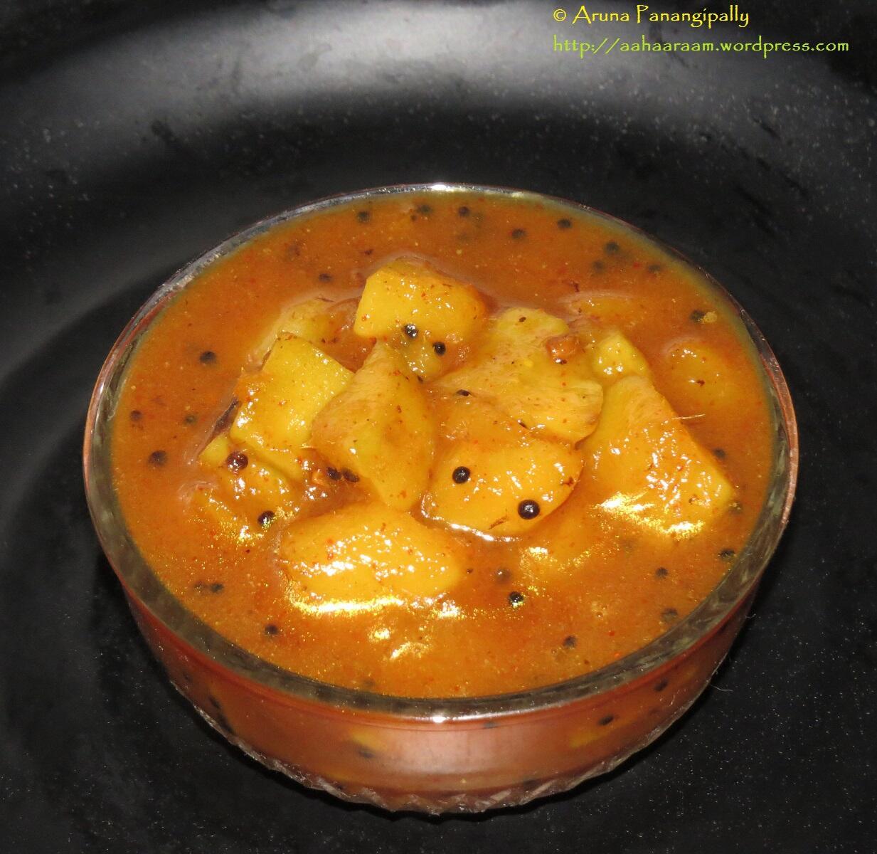 Methamba - Raw Mango and Fenugreek Relish or Chutney