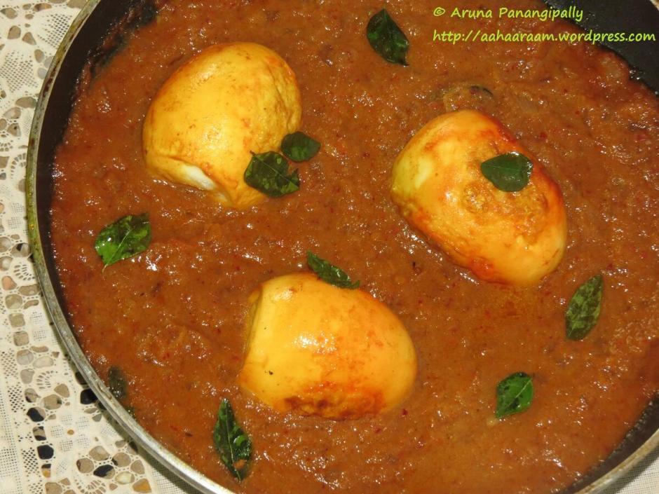 Andhra Style Egg Curry - Kodi Guddu Pulusu