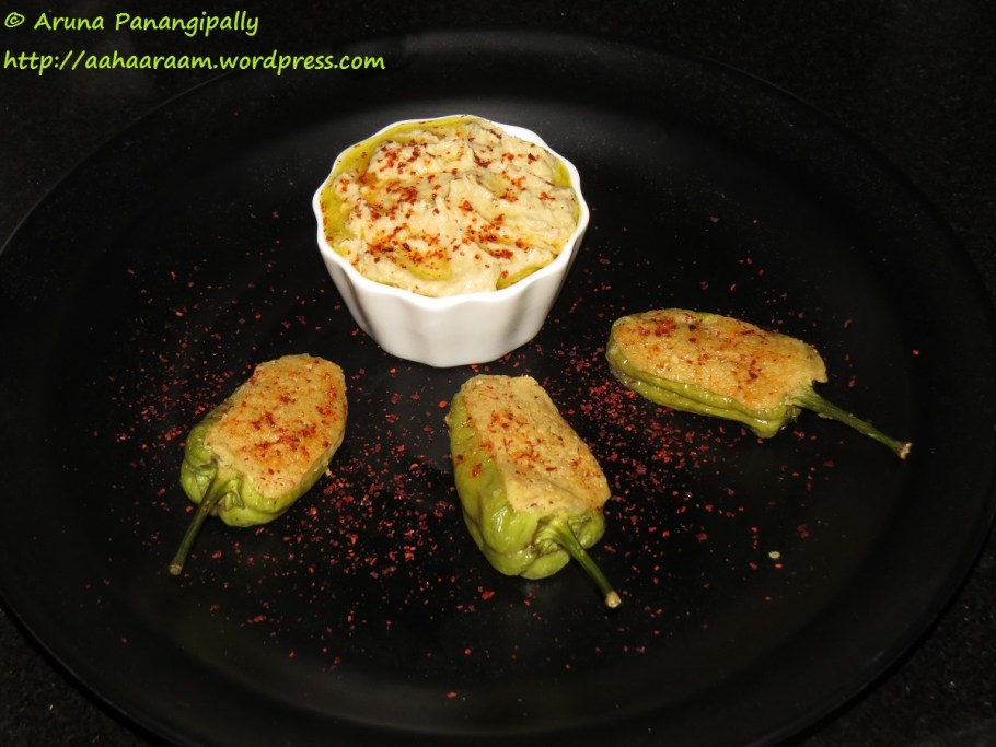 Green Chillies Stuffed with Hummus