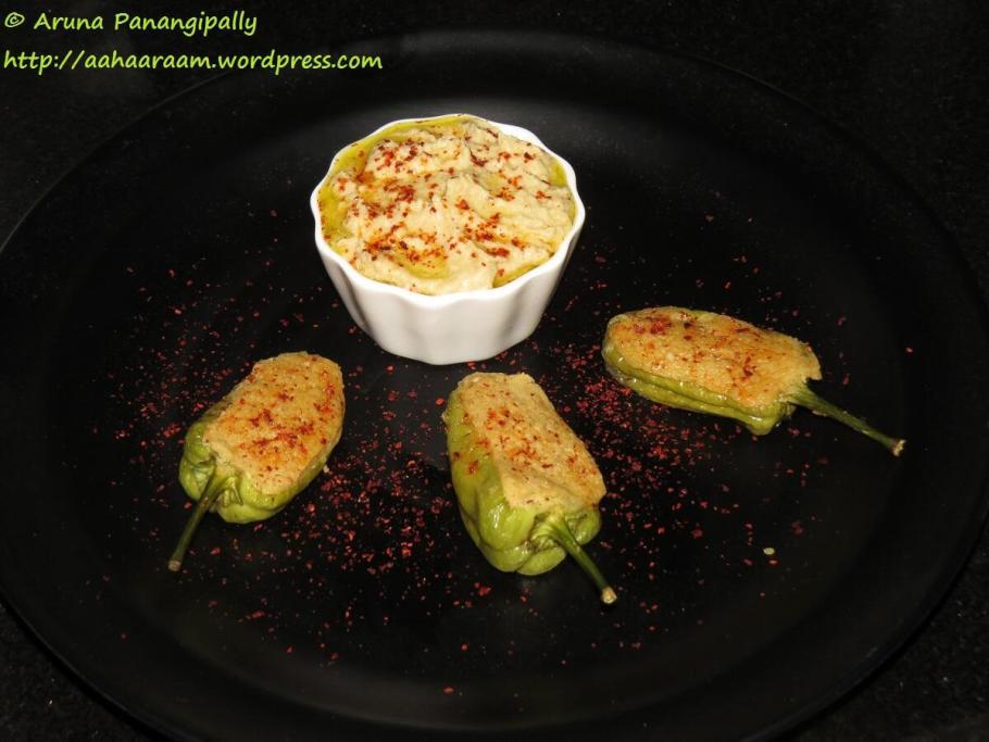Green Chillies Stuffed with Hummus