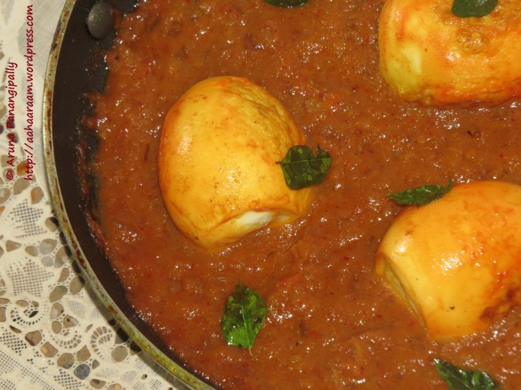 Kodi Guddu Pulusu - Andhra Style Egg Curry with Tamarind
