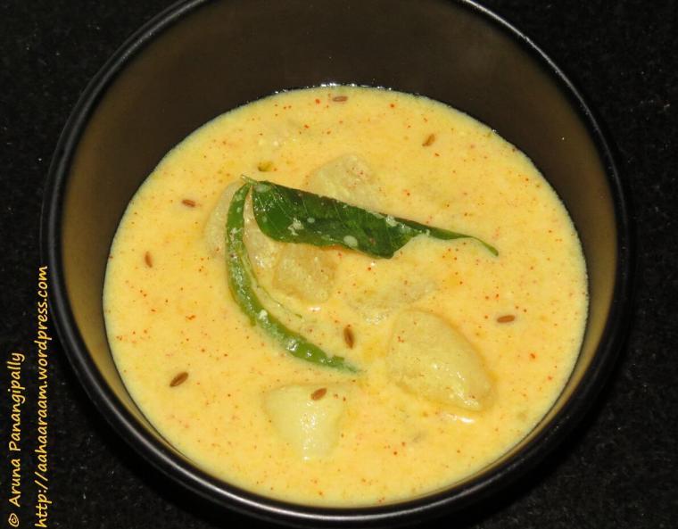 Dahi Wale Aloo or Dahi ke Alu - Navratri Vrat Recipe