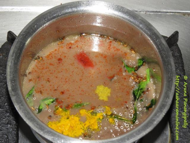 Boil Horse gram Water and Tamarind Paste