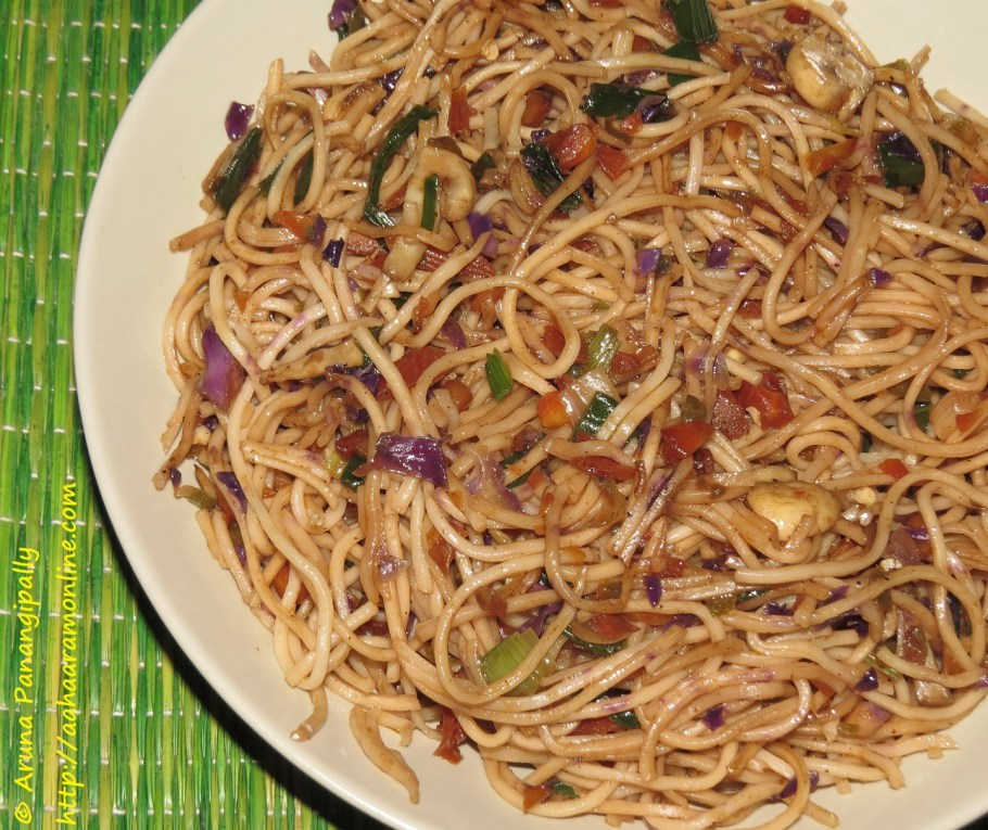 Vegetarian Hakka Noodles
