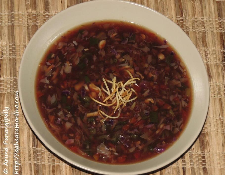 Vegetarian Manchow Soup