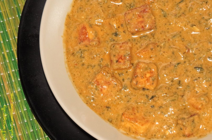 Creamy Methi Paneer – Cottage Cheese with Fenugreek