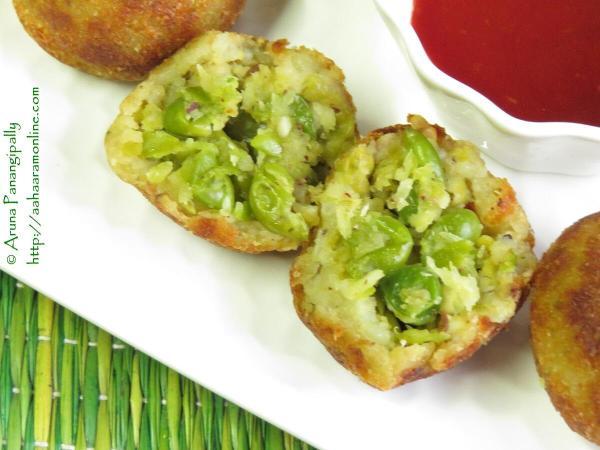 Green Peas Pattice - Matar Pattice - Ole Vatana Patties - Maharashtrian Style