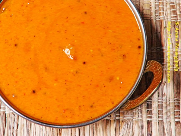 Amlechi Uddamethi - Raw Mango Curry with Coconut, Udad Dal and Methi from Goa