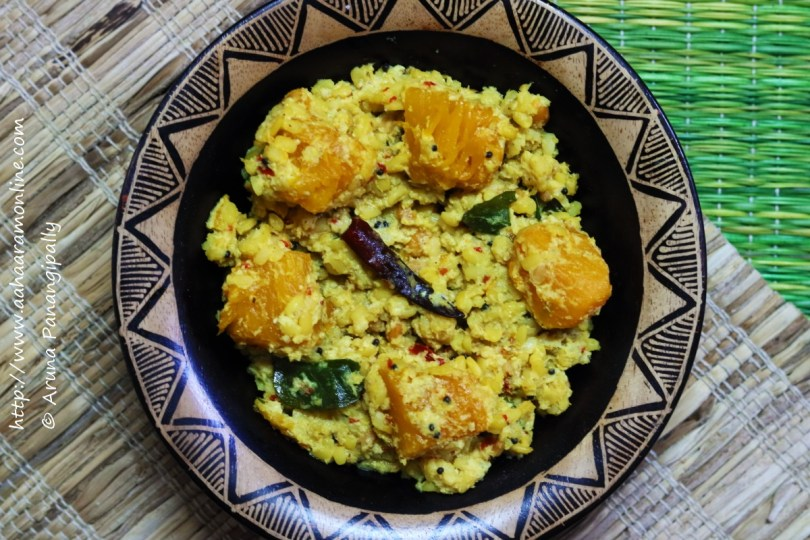 Gummadikaya Kura   Andhra Style Red Pumpkin Curry