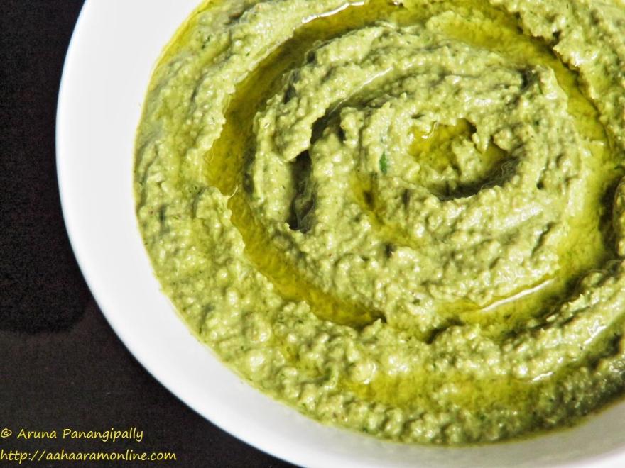 Coriander Green Chilli Hummus