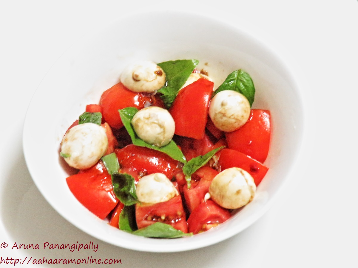 Bocconcini Salad with Tomato and Basil