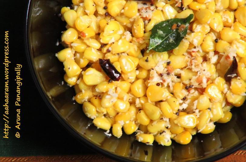 Sweet Corn Sundal   Mokkajonna Guggillu: Navratri Recipe