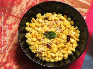Sweet Corn Sundal | Mokkajonna Guggillu