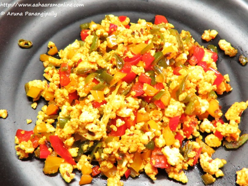 Healthy Paneer Bhurji with Bell Peppers