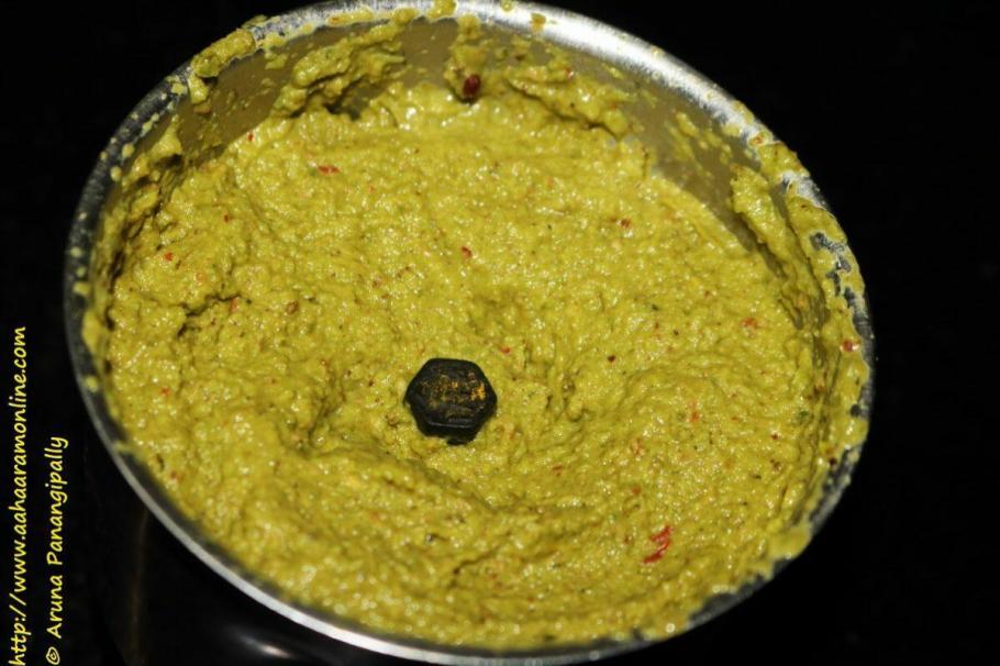 Grind Ingredients for the Beerakaya Pottu Pachadi