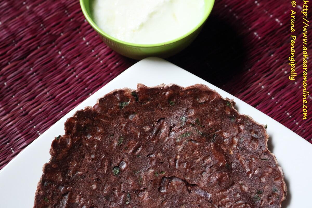Ragi Rotti | Nachni Roti | Unleavened Bread Made with Finger Millet Flour