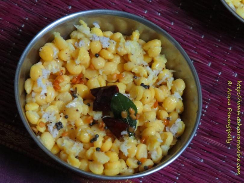Kadalai Paruppu Sundal for Navratri