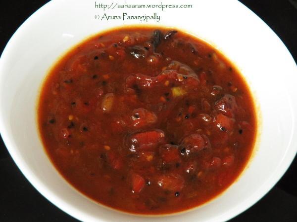 Bengali Tomato Khejur Aamshottor Chutney | Bengali Style Tomato, Date, and Mango Leather Chutney
