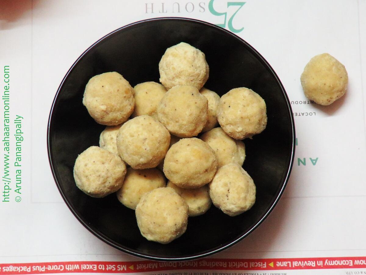 Rice Flour Laddu with Jaggery