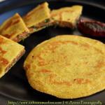 Beduan Roti | Arbi Stuffed Makki di Roti
